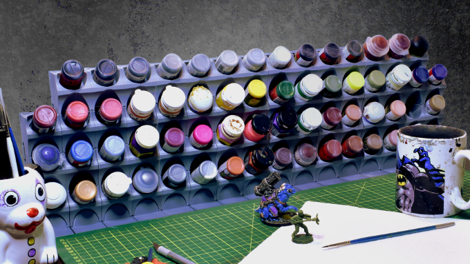 Assembled Prototype StackaRack Desk Pic