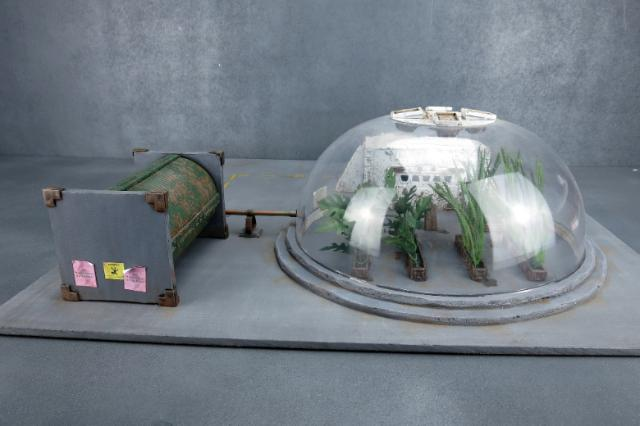 Plantation Dome made from a plastic bowl & the Maelstrom's Edge terrain sprue