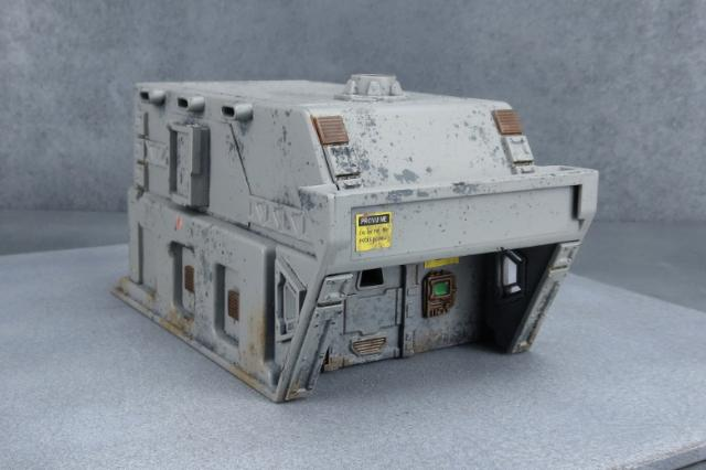 Sci-Fi multi-purpose demountable made from a plastic storage tray & the Maelstrom's Edge terrain sprue