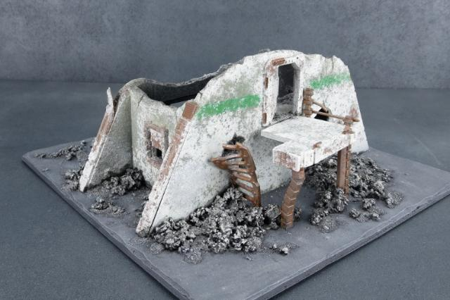 Ruined building made from foamcore & the Maelstrom's Edge terrain sprue
